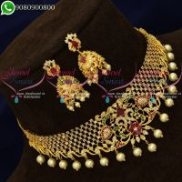 Choker Necklace New Designs Online Imitation Jewellery Collections