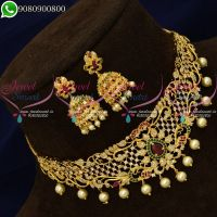 Choker Necklace Small Size Gold Plated Imitation Jewellery Designs