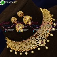 Choker Necklace Wedding Jewellery Imitation Latest Designs Online