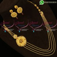 Forming Gold Jewellery Layered Necklace Side Pendant Models