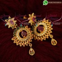 Gold Covering Earrings Imitation Jewellery AD Stones Online