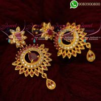Gold Covering Earrings Artificial Jewellery Designs Latest Online