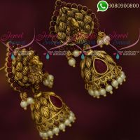 Jhumka Earrings Peacock Jewellery Antique Gold Plated Designs Online