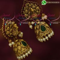 Jhumki Earrings Peacock Jewellery Antique Gold Plated Designs Online