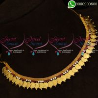 Laxmi Coin Necklace American Diamond Traditional Kasumala