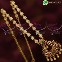 Pearl Chain Pendant Gold Plated Jewellery Designs Shop Online