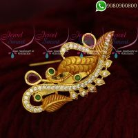 Saree Pins Gold Plated Jewellery Latest Designs online