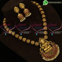 Temple Jewellery Beaded Necklace Antique Gold Plated Traditional Designs