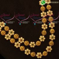 Temple Jewellery Laxmi Coin Layer Medium Haram Latest Designs