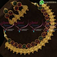 Temple Jewellery Kemp Stones Kasumala Antique Gold Traditional Jewellery