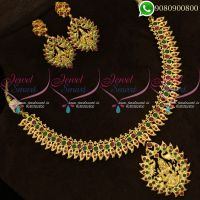 Temple Jewellery Set Imitation Gold Plated Traditional Designs Online