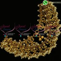 Anklets Gutta Pusalu Pearl Payal Latest Antique Jewellery Designs