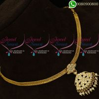 Attiga Necklace Gold Plated Jewellery Traditional Designs Online