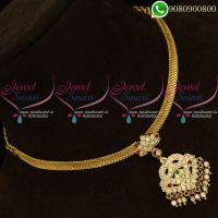 Attiga Necklace Gold Plated Jewellery Tamilnadu South Designs