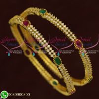 Bangles For Wedding CZ Jewellery Gold Plated New Designs Online