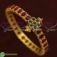 Bracelets For Women Real Kemp Stones Jewellery Traditional Indian Designs Online