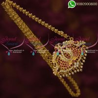 Chain Pendant Set American Diamond Jewellery Designs Gold Plated Online