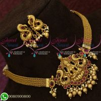 Choker Necklace Temple Jewellery South Indian Traditional Design Shop Online
