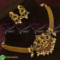 Choker Necklace Temple Jewellery Bridal Imitation Collections Shop Online