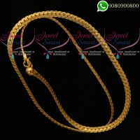 18 Inches Mens Chain 3 MM Flat Gold Plated Daily Wear Jewellery Online