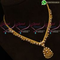 Gold Plated Necklace Simple Design South Indian Low Price Jewellery