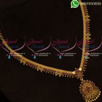 Gold Plated Necklace Ruby Stones Jewellery Low Price Online