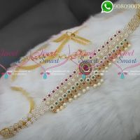 Hip Chains Fashion Jewellery Designs American Diamond Stones Online