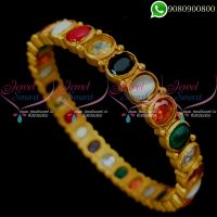 Navratna Bangles Antique Matte Finish Traditional Jewellery Designs