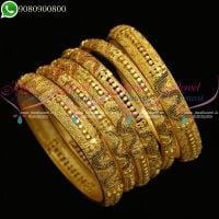 One Gram Gold Jewellery Bangles 6 Pieces Bridal Set Online