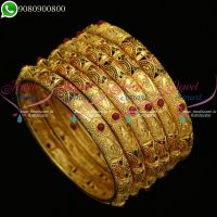 One Gram Gold Jewellery Bangles Latest Imitation Collection Online