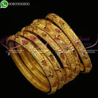 One Gram Gold Jewellery South Indian Bangles Design Online