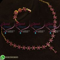 Ruby Stones Star Necklace Traditional Gold Plated Jewellery Designs