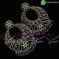 Silver Plated Earrings Oxidised Fashion Jewellery New Designs Online