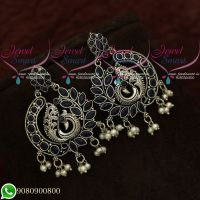 Silver Plated Earrings Peacock Oxidised Fashion Jewellery Shop Online
