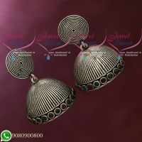 Silver Plated Jhumka Earrings Red Green Oxidised Jewellery Shop Online