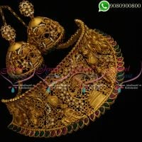 Temple Jewellery Choker Necklace Lord Nataraja Design Bridal Designs