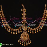 Temple Jewellery Damini Mathapatty Bridal Imitation Designs Online