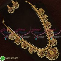 Temple Jewellery Guttapusalu Haaram South Indian Traditional Design Online