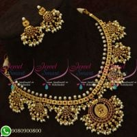 Temple Jewellery Guttapusalu Necklace South Indian Traditional Design Online