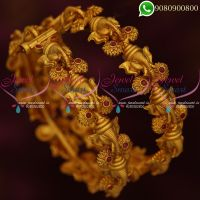 Temple Jewellery Lord Ganesh Design Matte Finish Bangles Online