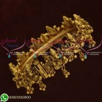 Temple Jewellery Lord Ganesh Bangles Nagas Designs Antique Gold Plated