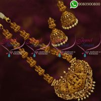 Temple Jewellery Nagas Necklace Lakshmi God Design Necklace Set