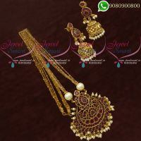 Chain Pendant Set Gold Plated Jewellery Antique Finish Online