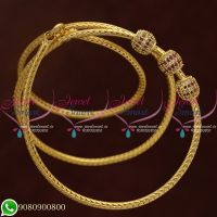 Gold Plated Ball Mugappu Chain Thali Kodi Model South Indian Jewellery