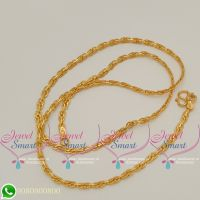 Gold Plated Chains 18 Inches Fancy Design Delicate Cut New Collections