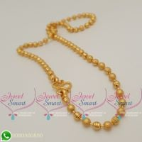 Gold Plated Chains 18 Inches Ball Beads Design New Imitation Collections