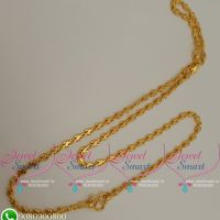 Gold Plated Chains 18 Inches Fancy Cutting Design Latest Daily Wear Jewellery