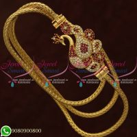 Gold Plated Jewellery Mugappu Chain Thali Kodi Peacock Design Shop Online