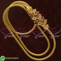 Gold Plated Jewellery Mugappu Chain Thali Kodi Leaf Design Shop Online