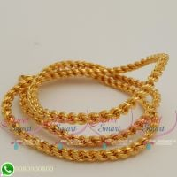 Gold Plated Thali Kodi Chain 5 MM Thick Twisted Design Daily Wear 24 Inches